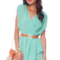 New Colors on the Block Belted Dress in Mint