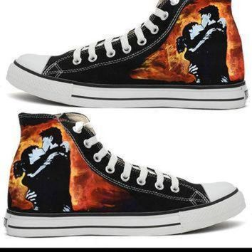 DCCK8NT green day 21cb handpainted converse all star shoes