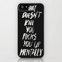 Mentally, alternative iPhone & iPod Case by WRDBNR