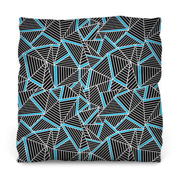 Ab Lines Electric Blue Throw Pillow