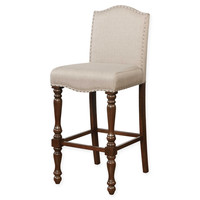 Linon Home Willow Upholstered Stool