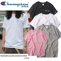 Short Sleeve Simple Design Embroidery T-shirts [11946103891]