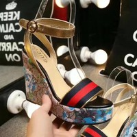 Gucci women Fashion Heels Shoes-1