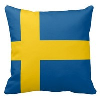 Pillow with flag of Sweden