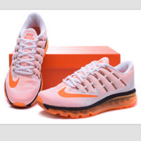 """NIKE"" Trending Fashion Casual Sports Shoes AirMax Toe Cap hook section knited Orange hook soles"