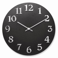 Vogue-Black Resin Wall Clock
