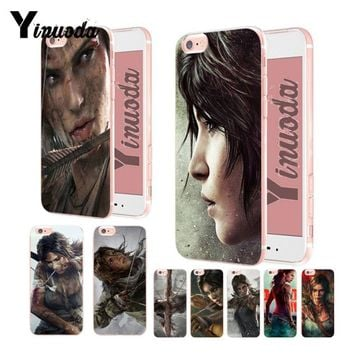 Yinuoda Tomb raider wallpaper Transparent Soft silicone Cover case For iPhone 6 6plus 7 7Plus 8 8plus X XS XR XSMax