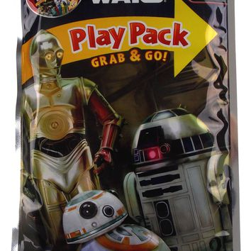 Star Wars Play Pack R2D2 C3PO BB-8 Grab Go Set 12 Coloring Book Crayons Stickers