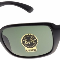 Cheap Ray-Ban Sunglasses RB4068 601 Black | Green Classic G-15 Lens | 60mm | NIB outlet