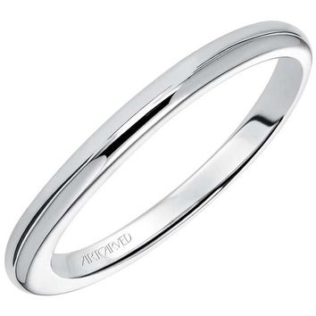 "Artcarved ""April"" High Polish Straight Wedding Ring"