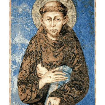 St. Francis From Assisi Tapestry Wall Art Hanging