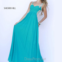Embellished Straps Sweetheart Formal Prom Gown By Sherri Hill 5202