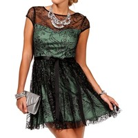 SALE-Maisie-BlackSeafoam Homecoming Dress