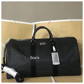 NWT Michael Kors MK Signature XL Travel Duffle Bag / BLACK -$498