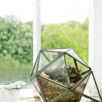 Urban Grow Diamond Terrarium Planter in Silver - Urban Outfitters