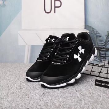 under armour unisex casual fashion pig leather sneakers couple running shoes