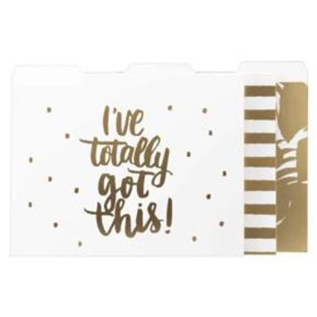 File Folders, 12ct, White and Gold - Threshold™ : Target