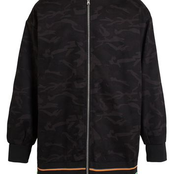 Raf Simons Sterling Ruby camouflage bomber jacket