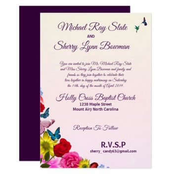 Custom Spring Floral Wedding Invitation