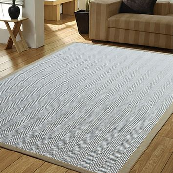 Herringbone Beige Indoor Accent Rug