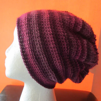 57f8750163e Cody - Purple Plum Crochet Beanie Hat Multi-Color