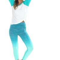 Ombré Leggings Green