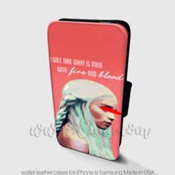 Daenerys Targaryen Wallet iPhone Cases Game of Thrones Samsung Wallet Phone Case