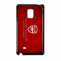 Arsenal FC You Cant Buy Class Be Faithful Forever Samsung Galaxy Note Edge Case