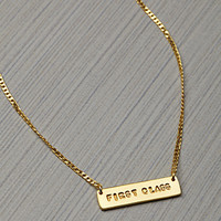This Is A Love Song x Just For The Money First Class Necklace