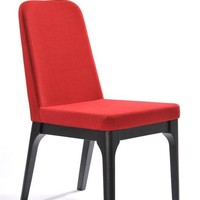 Modrest Comet Modern Red Fabric Dining Chair (set of 2)