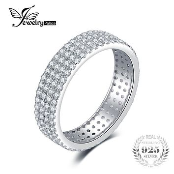 Anniversary Wedding Band Ring Genuine 925 Sterling Silver Jewelry Feelcolor Brand Classic Wedding Charm Gift For Women Friends