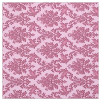 Vintage Inspired Pink Damask Print Fabric