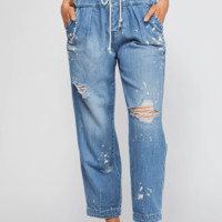 Women's Free People Mixed Up Utility Jean