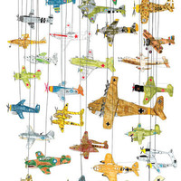 Imaginary Exhibitions Planes of World War II Art Print by James (barker) Illustration | Society6