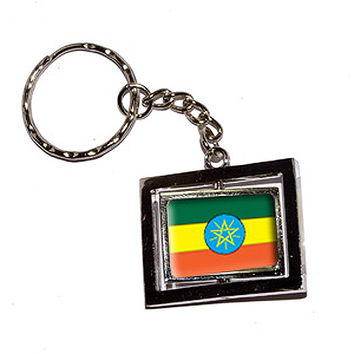 Ethiopia Country Flag Keychain