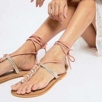 ASOS DESIGN Fenton plaited flat sandals at asos.com