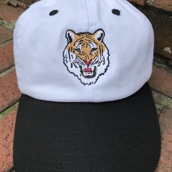 White/Black Two-Tone Tiger Hat