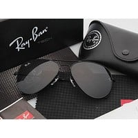Ray Ban Aviator Sunglass Black Mirrored RB 3025