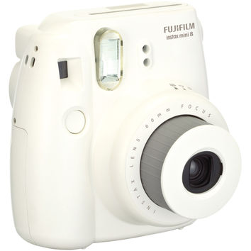 FUJIFILM 16273398 Instax(R) Mini 8 Instant Camera (White)