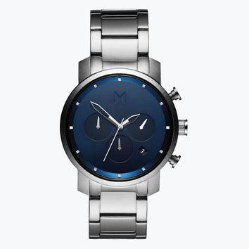 Chrono 40MM Navy Silver