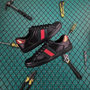 Gucci Ace Leather Sneaker Black-1