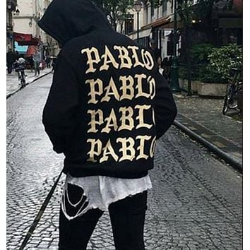 Mens pullover Yeeprint hoodies fleece Sweatshirts Vision religion paint Kanye West I FEEL LIKE PABLO Pullover Hip Hop fear of god street 3XL