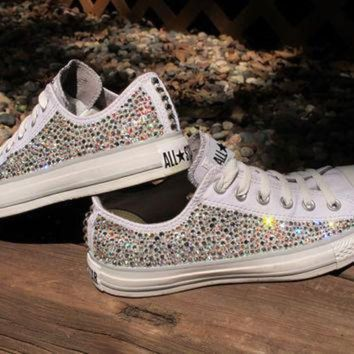 ICIKGQ8 swarovski crystal converse all stars not including the shoes read description