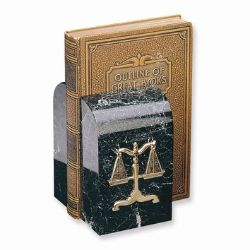 Legal Emblem Marble Bookends