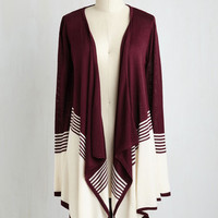 Colorblocking Long Long Sleeve Keep a Mellow Profile Cardigan