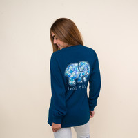 Moroccan Blue Ogee Tee