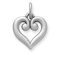 Scrolled Heart Charm | James Avery