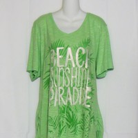 Just My Size Plus Size 3X Tee Shirt Green