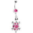 Pink Gem Turtle Belly Ring | Body Candy Body Jewelry