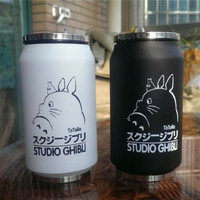 Creative Cartoon Vacuum Thermos Mug My Neighbor Totoro can of cola Novelty Stainless Steel Totoro Cup 300ml